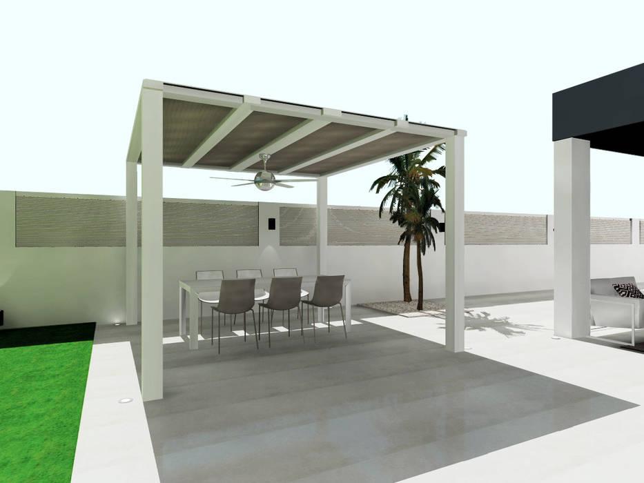 Diseño De Comedor Exterior Balcones Y Terrazas De Estilo