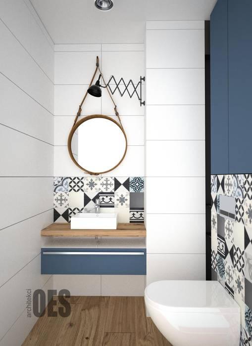 OES architekci Modern bathroom Solid Wood White