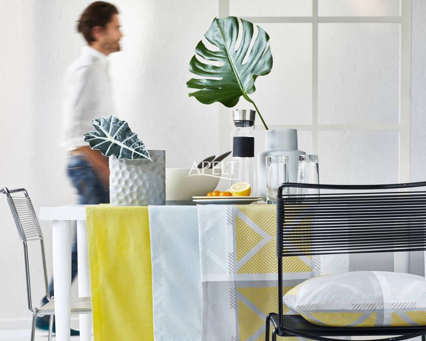 Alfred Apelt GmbH Ruang Makan Modern Yellow