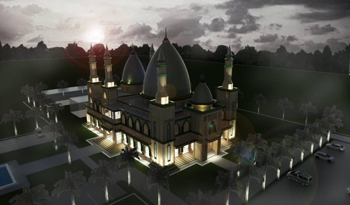 Masjid Raya Persatuan Besar Studio Arsitektur Atap Amber/Gold