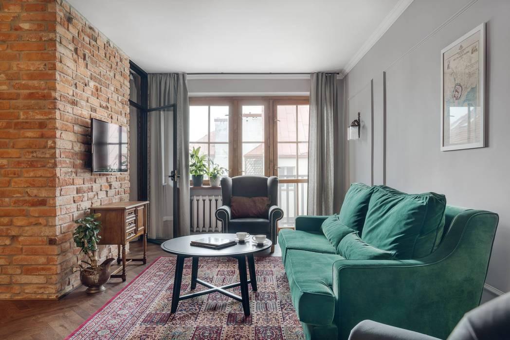 Salas / recibidores de estilo  por Double Look Design, Ecléctico