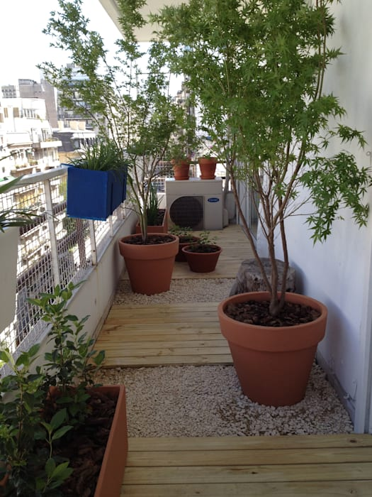 Ib - Paisajista Classic style balcony, veranda & terrace