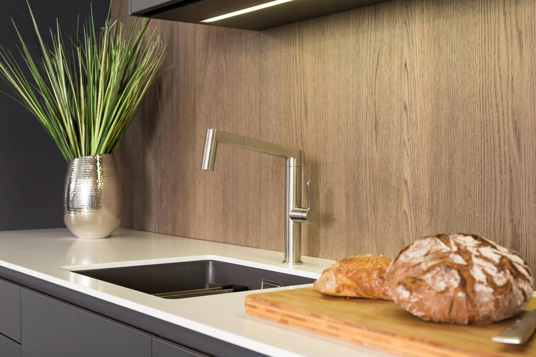 Rational Tio Graphit Grau Und Weiß Mit Nischenwand Eiche Sepia: Moderne  Küche Von Lang Küchen