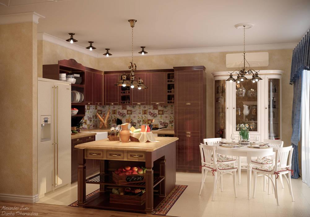 кухня студия формы г классика дизайн фото сахалине