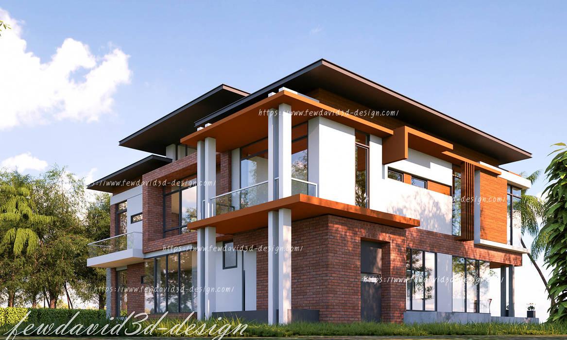 Dinding & Lantai Modern Oleh fewdavid3d-design Modern