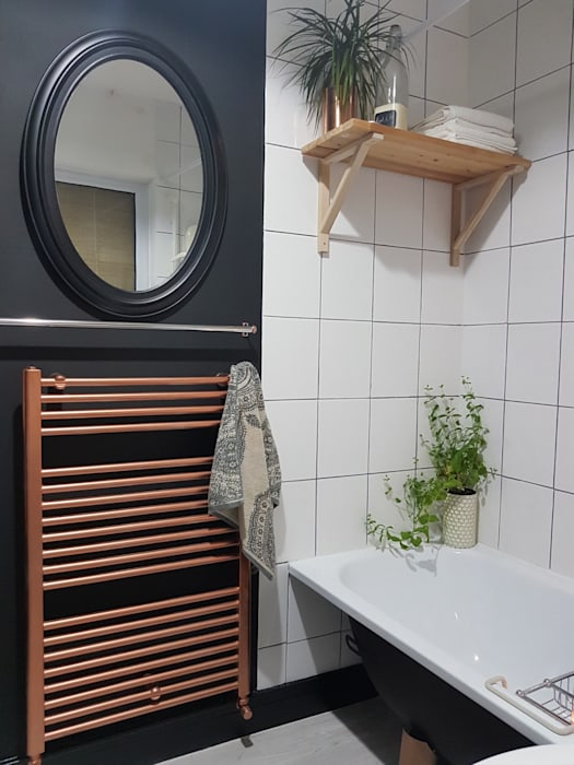 Bathroom makeover Baños de estilo industrial de THE FRESH INTERIOR COMPANY Industrial