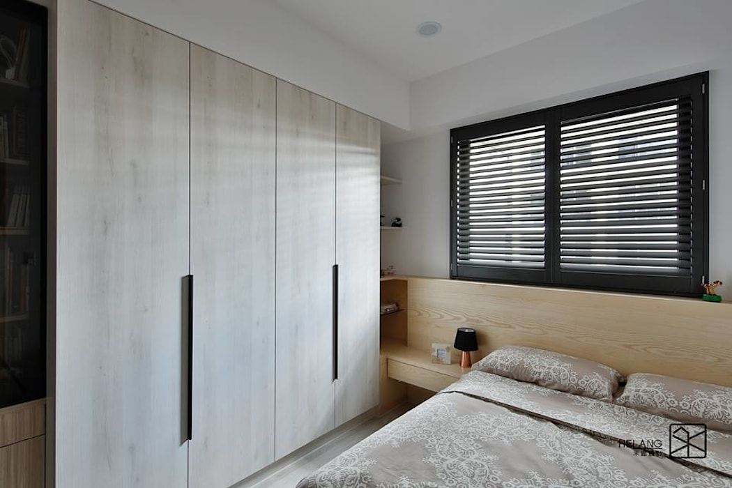 次臥A:  臥室 by 禾廊室內設計