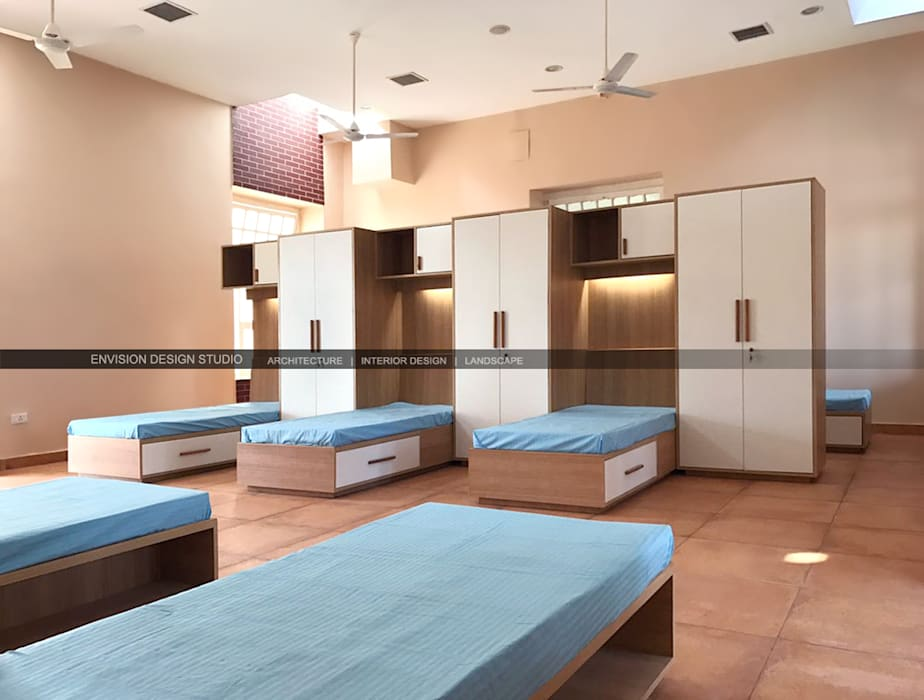 Hostel block—the shivaji house—dormitory: by envision design studio