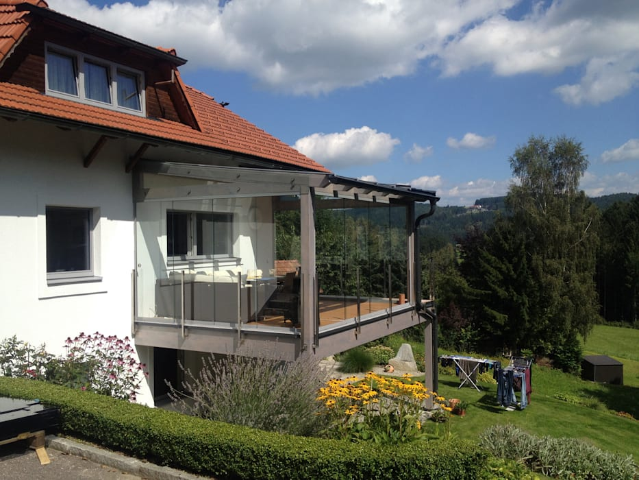 Sommergarten Glas Auf Bestehender Terrasse Montiert Wintergarten