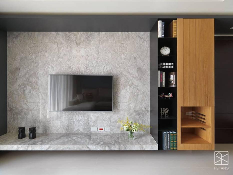 電視牆:  牆面 by 禾廊室內設計