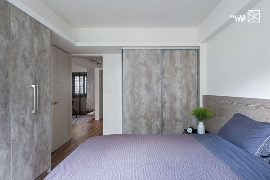 系統板 Minimalist bedroom by 禾廊室內設計 Minimalist