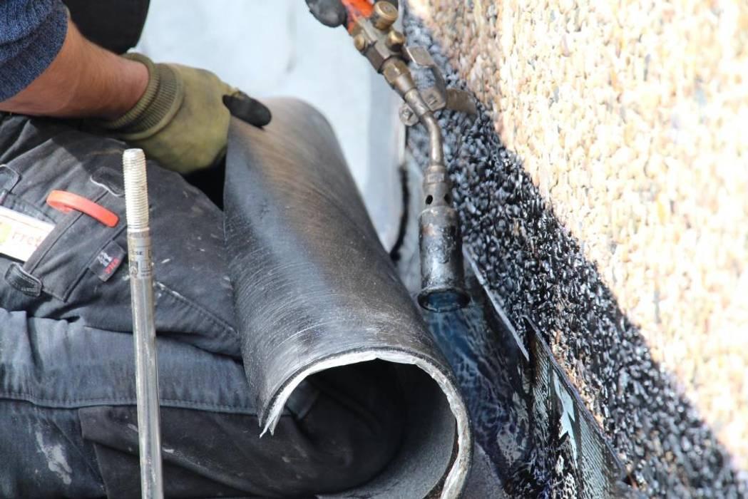 Flachdachsanierung Dachdeckermeisterbetrieb Dirk Lange - Ihr Dachdecker in Bünde Herford Bielefeld:  Flachdach von Dachdeckermeisterbetrieb Dirk Lange