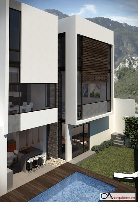 LAS FINCAS: Casas de estilo  por OA arquitectura