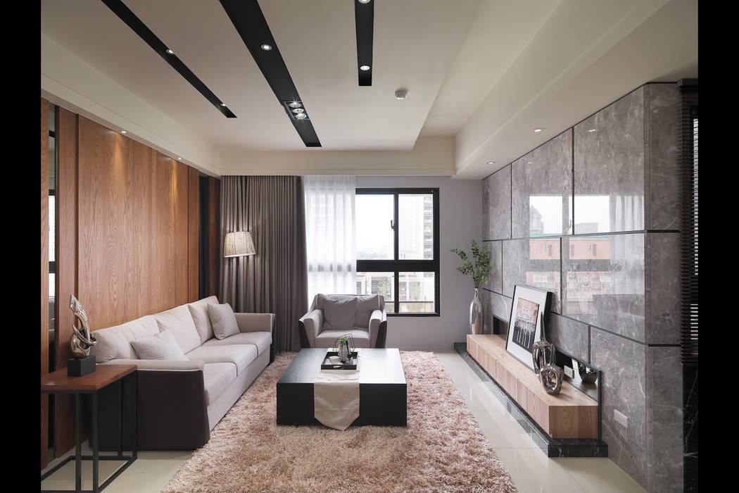 Salones de estilo asiático de 珍品空間設計 | JP SPACE DESIGN STUDIO Asiático
