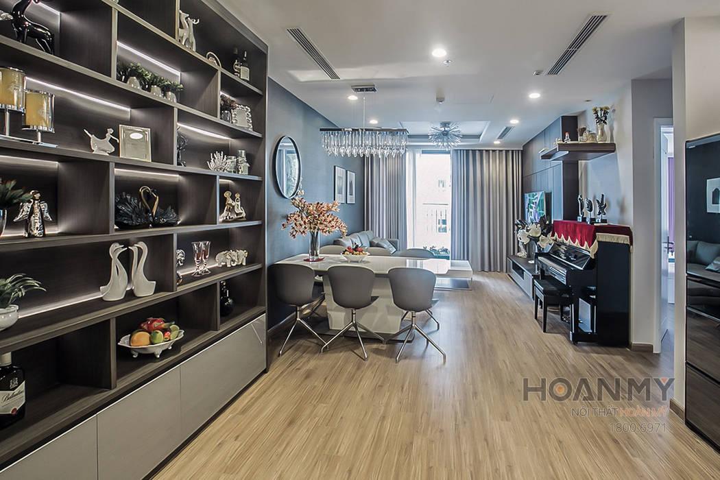 Thiết kế nội thất phòng ăn Phòng ăn phong cách hiện đại bởi Thương hiệu Nội Thất Hoàn Mỹ Hiện đại