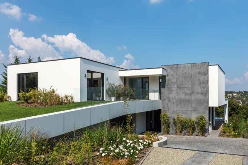 Houses by IDEAL WORK Srl, Modern Concrete