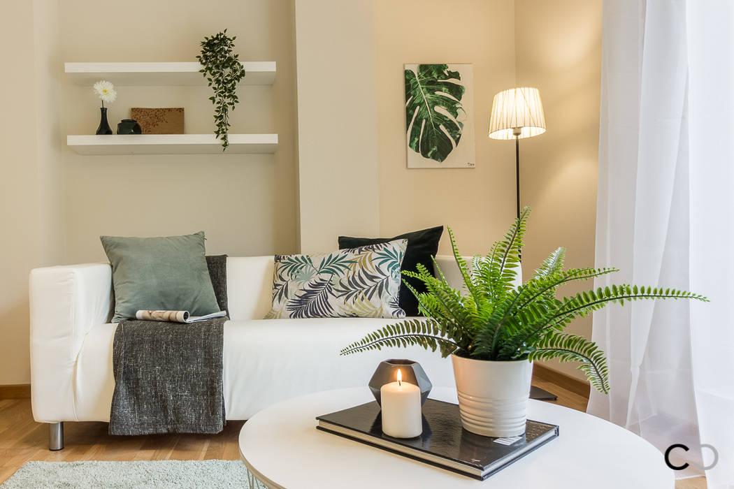 SALÓN Salones de estilo moderno de CCVO Design and Staging Moderno
