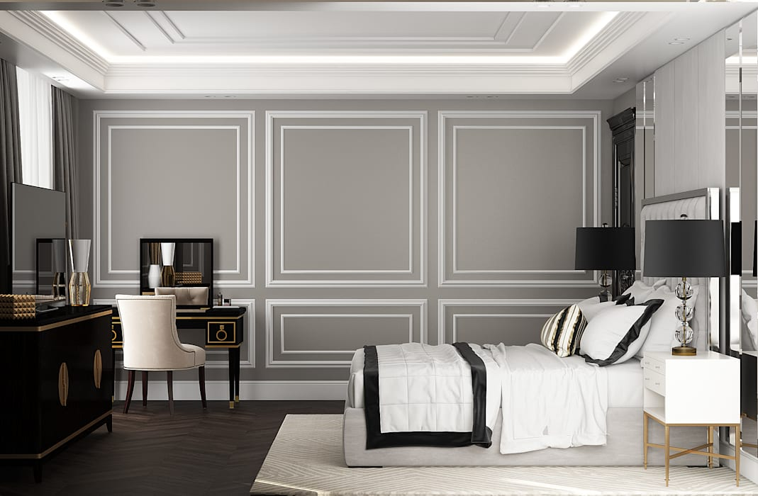 Eclectic style bedroom by U-Style design studio Eclectic