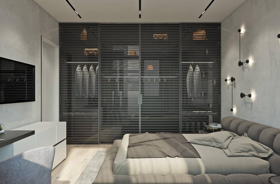 River Stone Спальня в стиле минимализм от U-Style design studio Минимализм