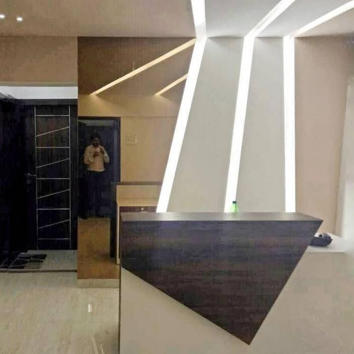 Contemporary reception by L V Designs Modern Glass