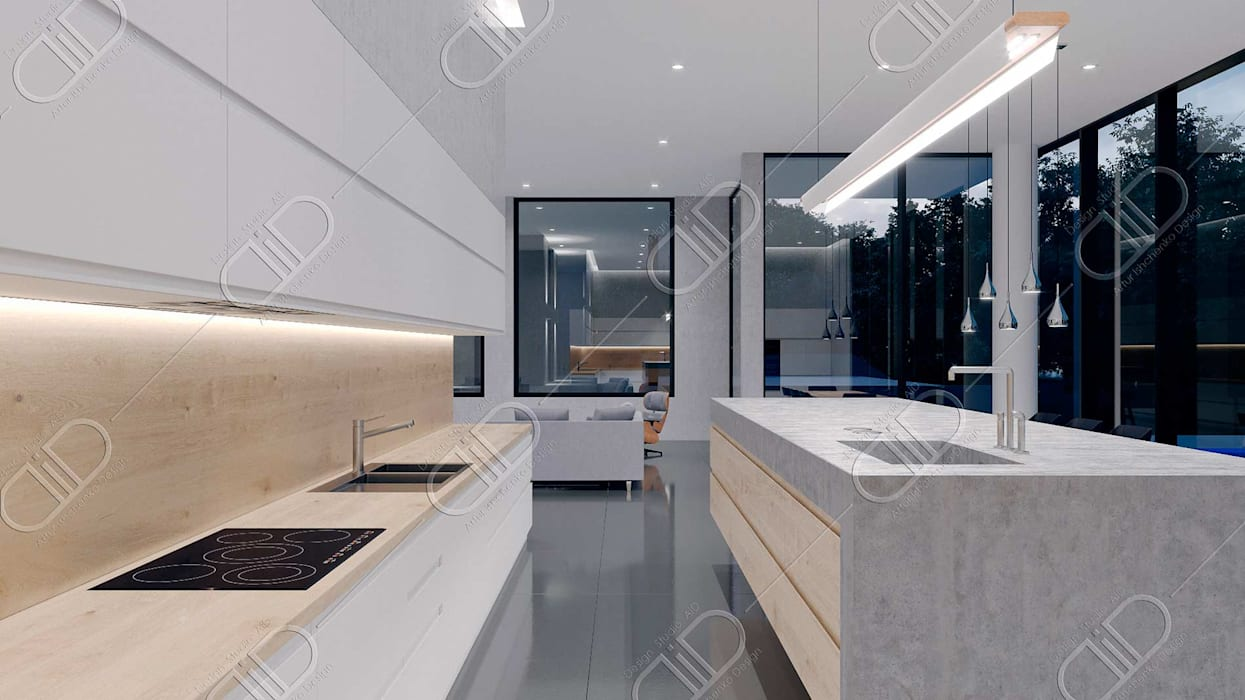 Algonquin Modern kitchen by Design Studio AiD Modern