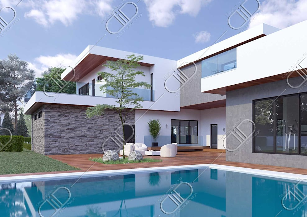 Casas minimalistas por Design Studio AiD Minimalista