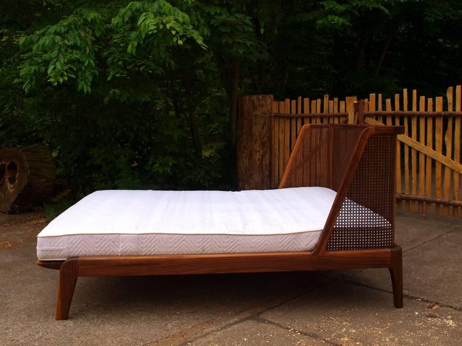 Schlafzimmer Rattan | Bett Mit Einem Kopfteil Aus Rattan Schlafzimmer Von Holzarbeiten