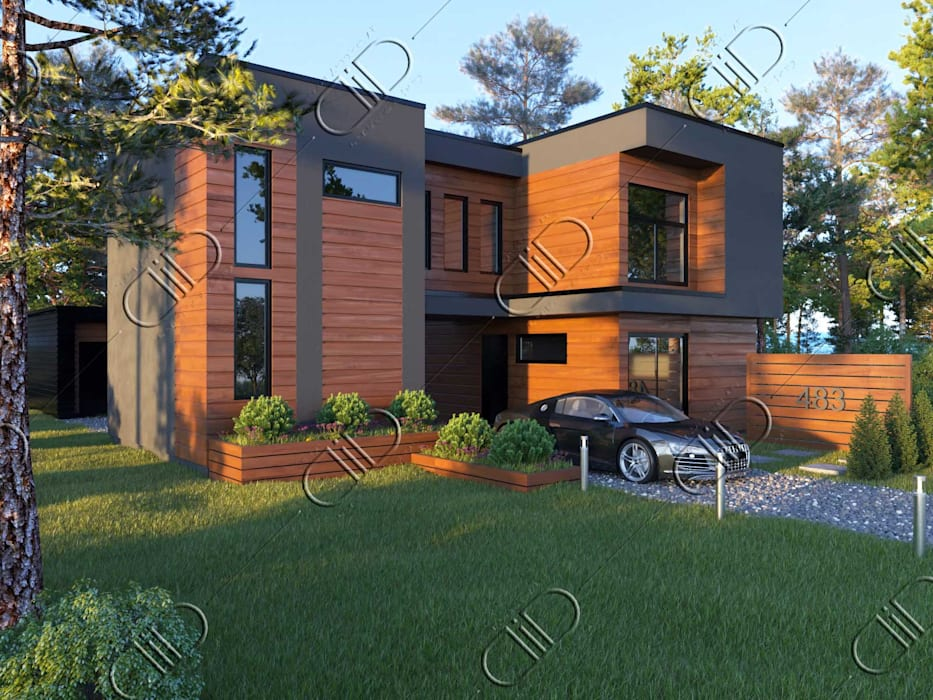 WoodLine:  Houses by Design Studio AiD,