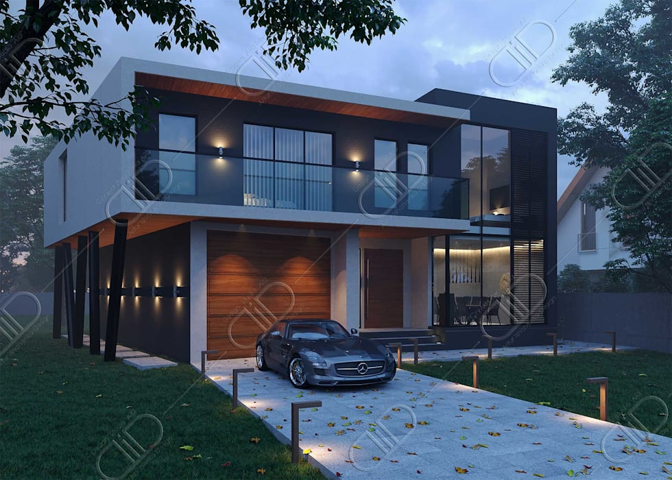 Architectural Design and Visualization:  Houses by Design Studio AiD,