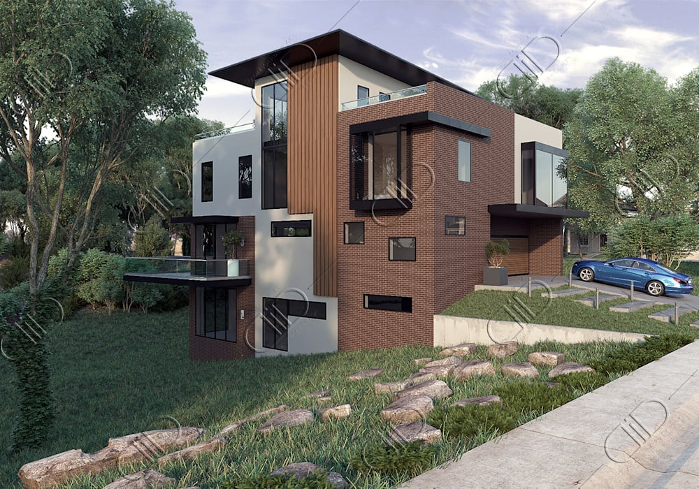 Architectural Design and Visualization Design Studio AiD Modern houses