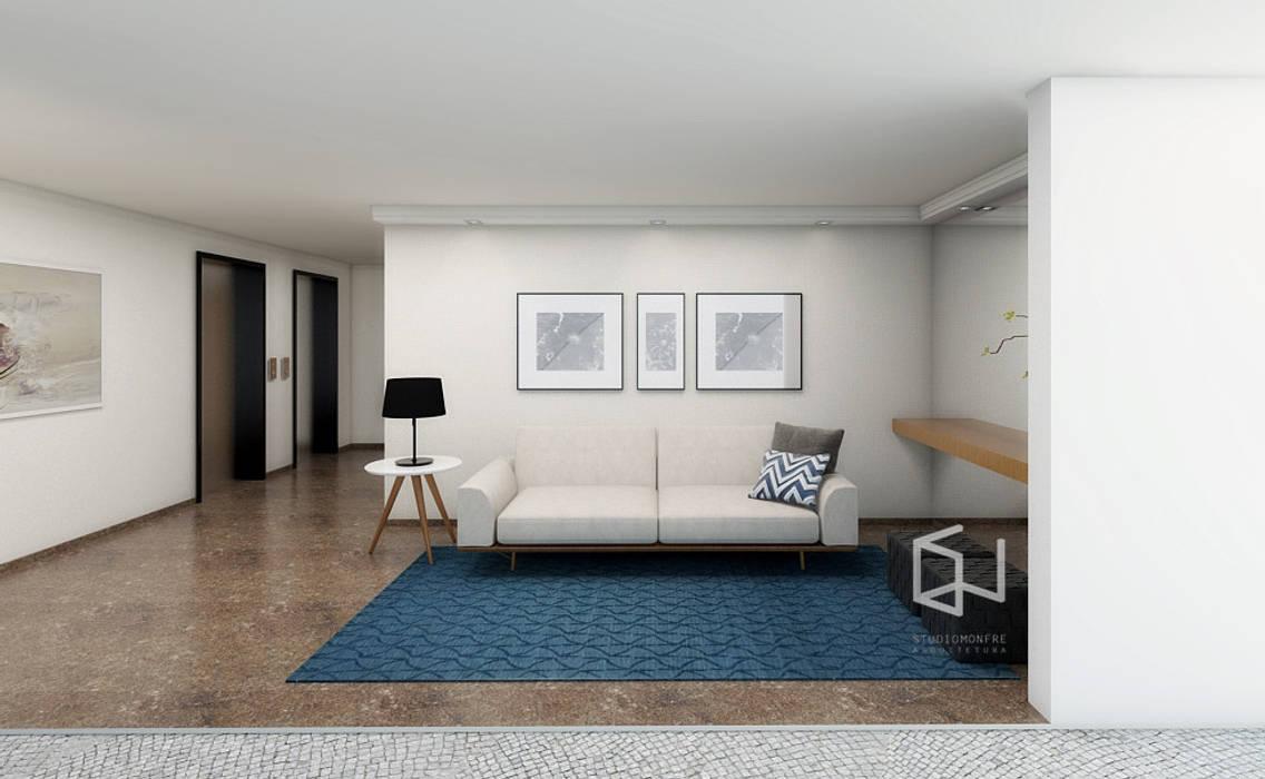 Hall Social Corredores, halls e escadas modernos por Studio Monfre Arquitetura Moderno