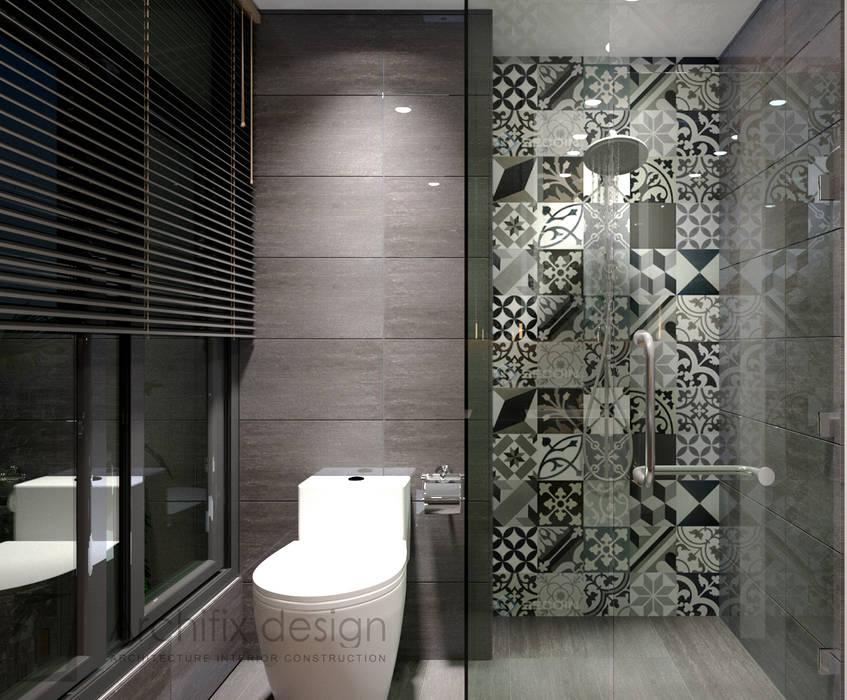 Cải tạo căn hộ Duplex -Lam Sơn - Tân Bình Phòng tắm phong cách hiện đại bởi Công Ty TNHH Archifix Design Hiện đại