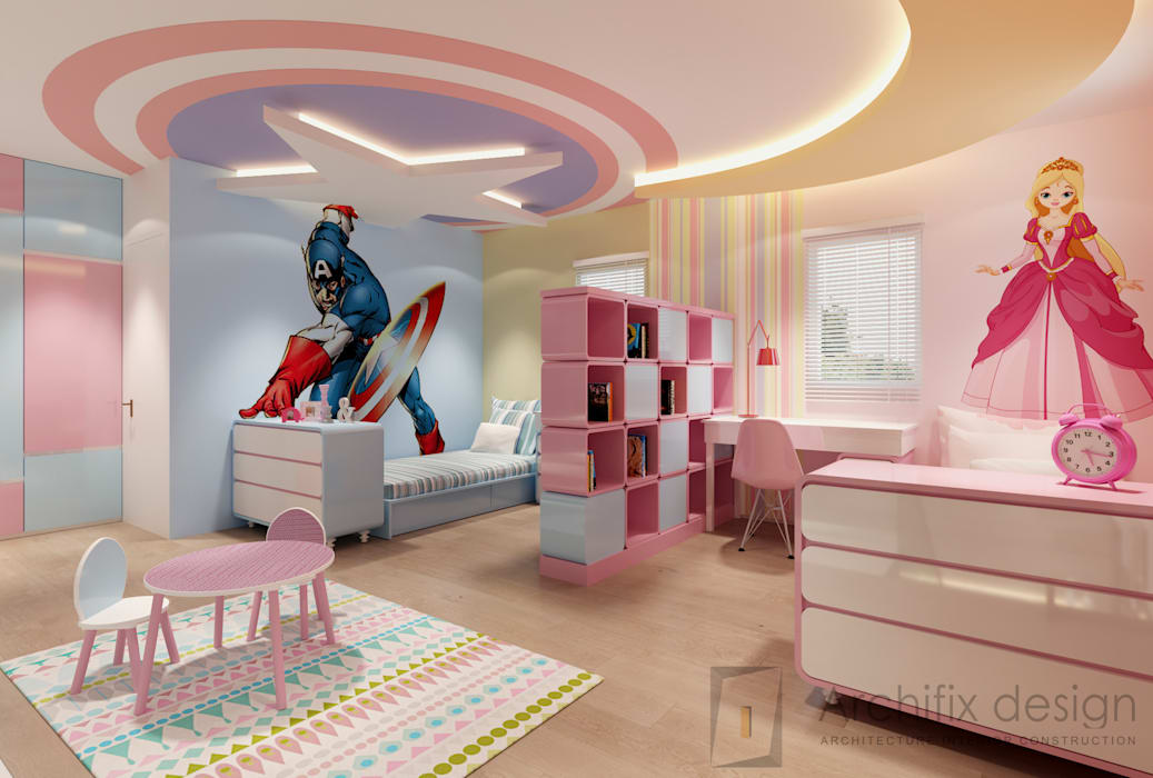 Cải tạo căn hộ Duplex -Lam Sơn - Tân Bình Công Ty TNHH Archifix Design Phòng ngủ của trẻ em