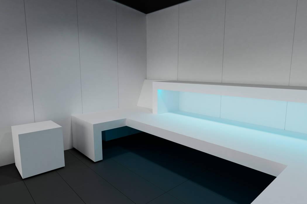 Línea de baño de Vapor Solid Surface de INBECA Wellness Equipment: Saunas de estilo  de INBECA Wellness Equipment, Minimalista
