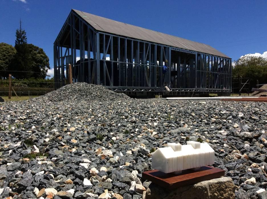 Prototipo Extend _ Viviendas Refugio 27-47-67 Casas de estilo moderno de @tresarquitectos Moderno