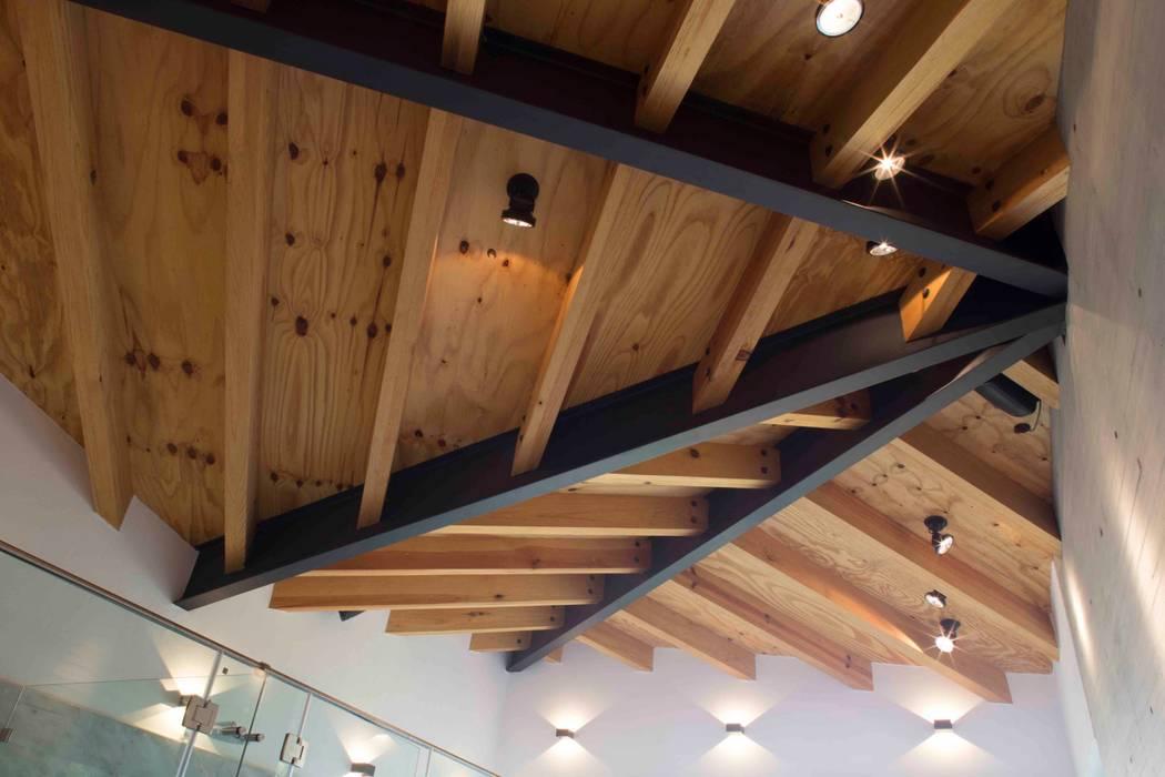 Casa Argueta: Techos inclinados de estilo  por Eduardo Gutiérrez Taller de Arquitectura
