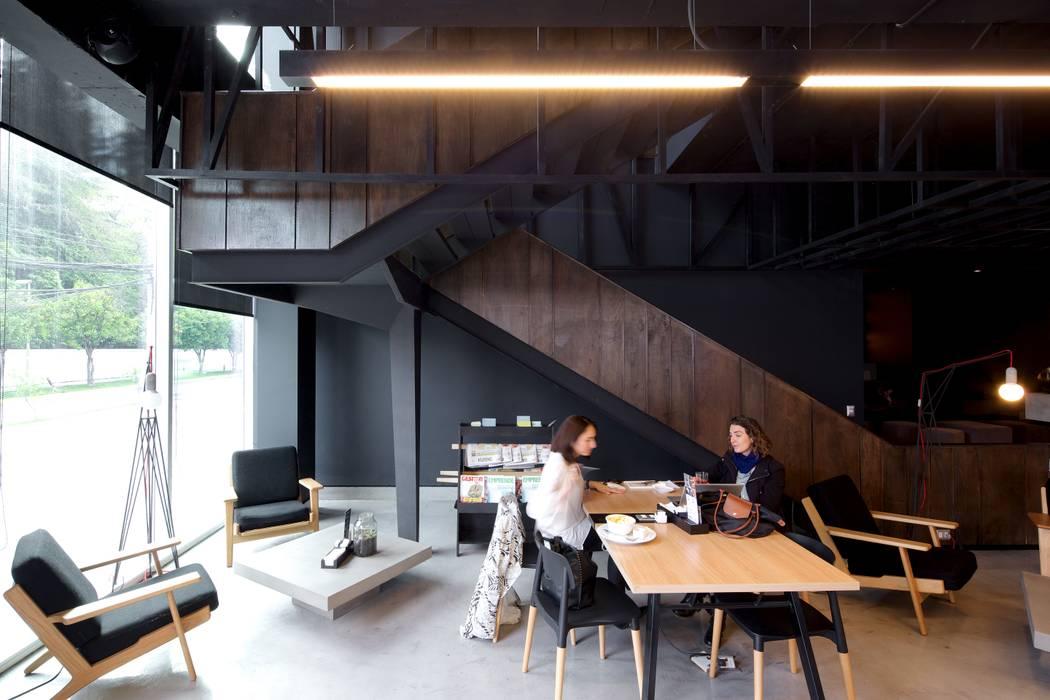 Restoran oleh 2712 / asociados, Skandinavia Kayu Wood effect