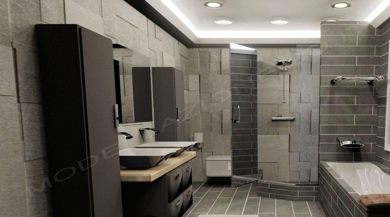Modellazione e rendering ambienti interni bagno moderno bagno in stile di modellazione - Foto bagni ikea ...