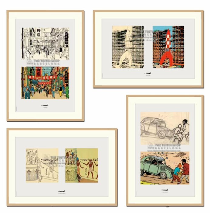 Enmarcado de laminas de coleccion: Pasillos y vestíbulos de estilo  por Galeria Marqueteria ARTE & MARKO, Moderno Madera Acabado en madera
