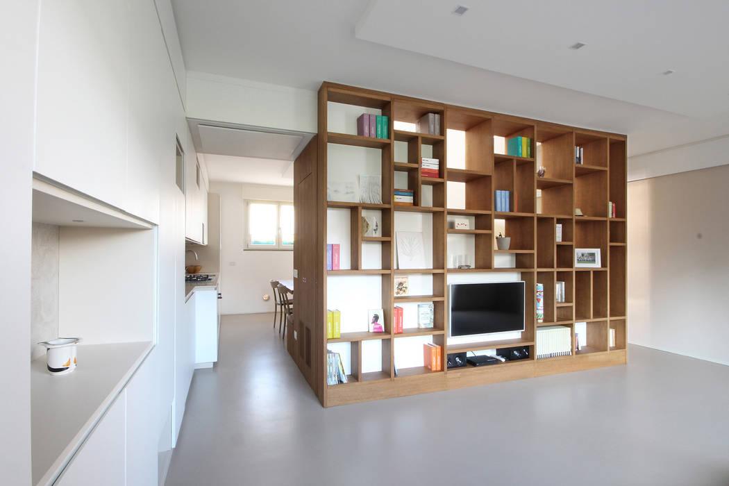 Parete Attrezzata Design Moderno.Parete Attrezzata Su Misura Soggiorno In Stile Scandinavo Di Jfd