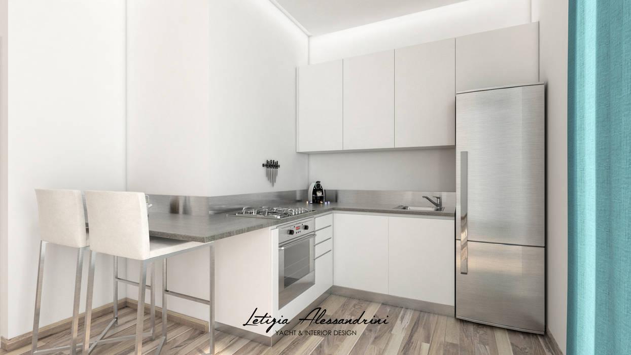 Monolocale a milano: cucina in stile in stile moderno di letizia ...