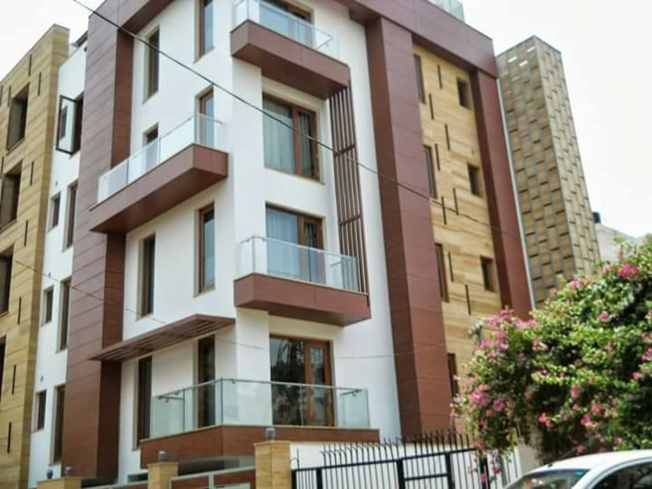 RESIDENTIALS:  Conservatory by ARCHITECTS KT INDIA GROUP,Modern