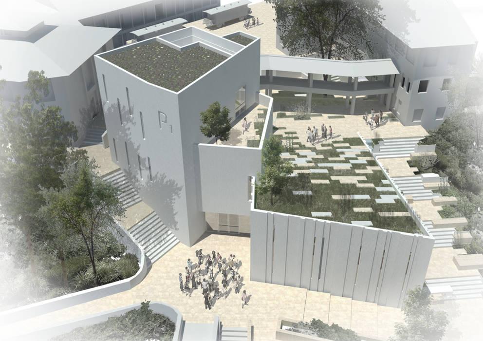 Panoramica: Jardines de invierno de estilo  por Bustos + Quintero arquitectos