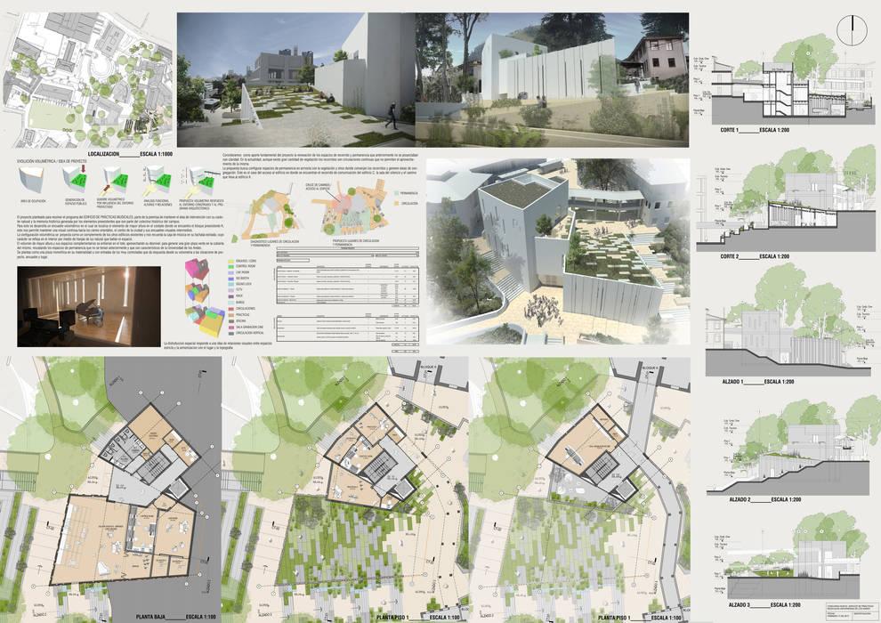 Board final: Jardines de invierno de estilo moderno por Bustos + Quintero arquitectos
