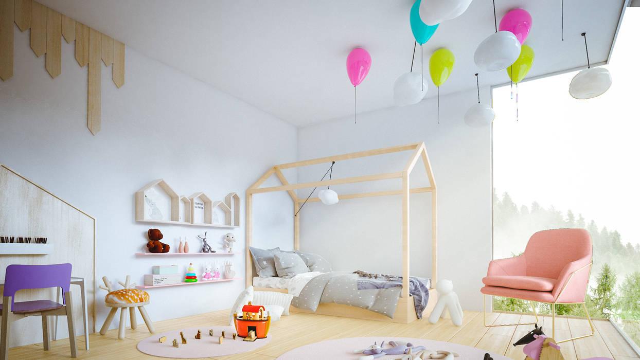 casa vega Habitaciones para niños de estilo moderno de Adrede Diseño Moderno