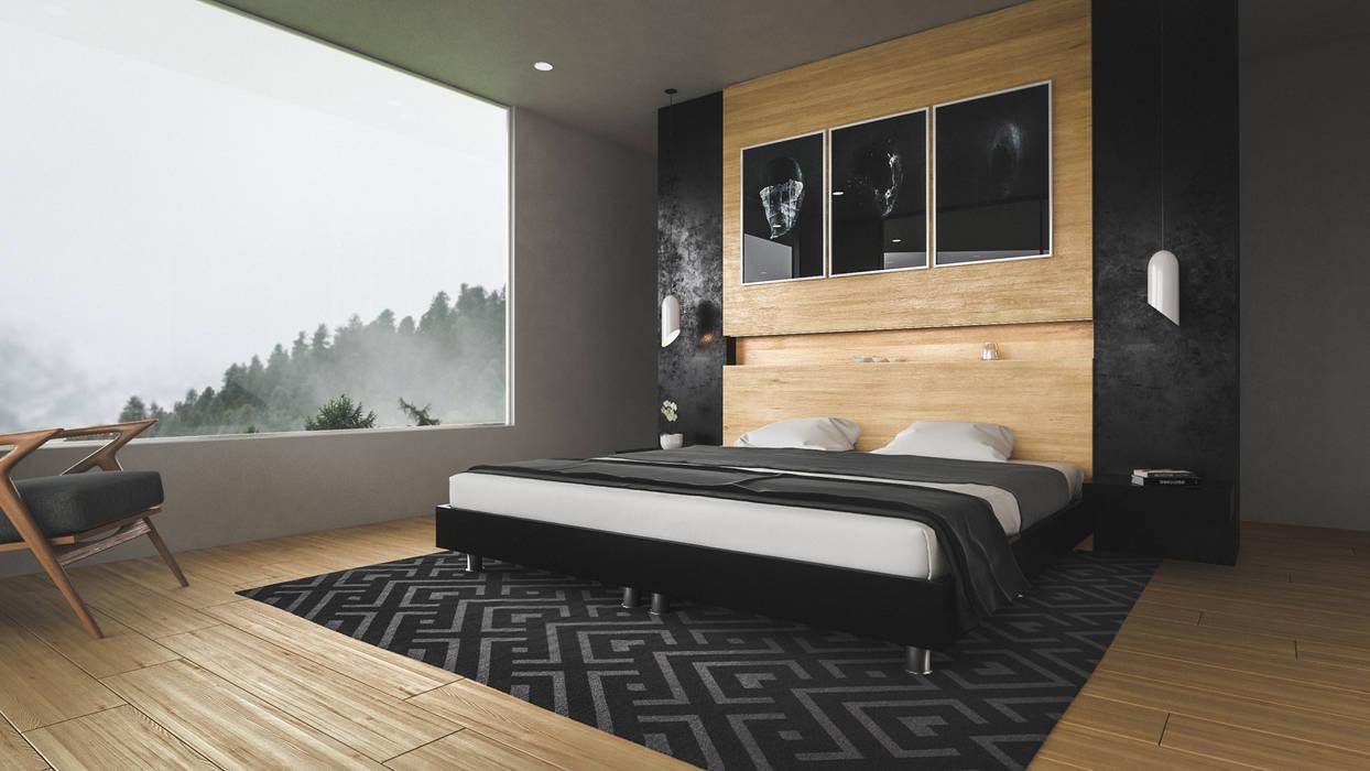 casa vega Habitaciones modernas de Adrede Diseño Moderno
