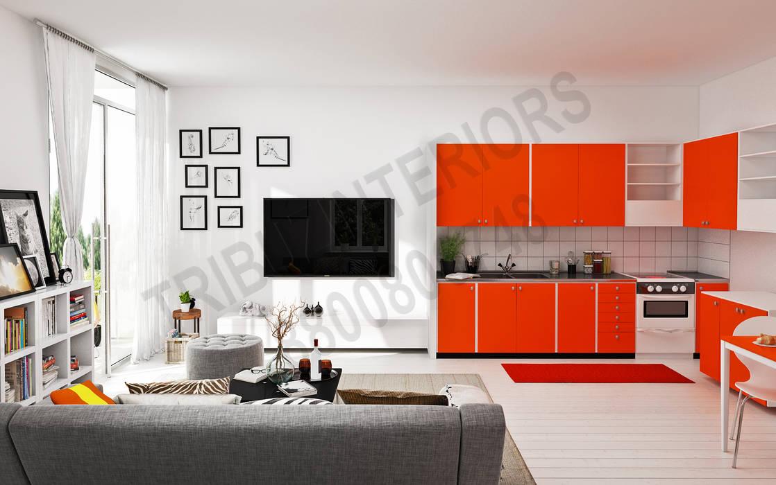 Living room by Tribuz Interiors Pvt. Ltd., Modern