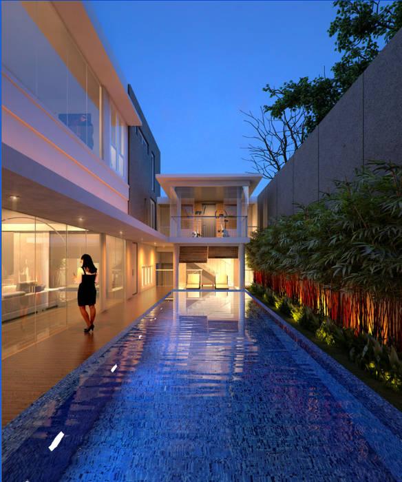 LEBAK BULUS Kolam Renang Modern Oleh sony architect studio Modern