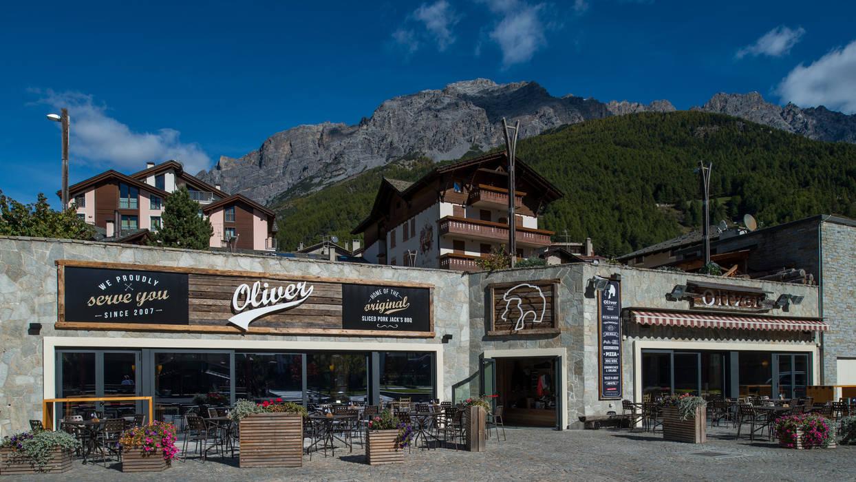 Rustic style bars & clubs by BEARprogetti - Architetto Enrico Bellotti Rustic