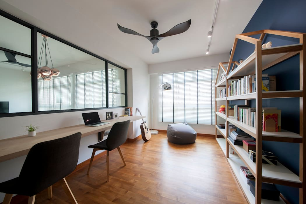 COMPASSVALE ANCILIA II Scandinavian style study/office by Eightytwo Pte Ltd Scandinavian Wood Wood effect